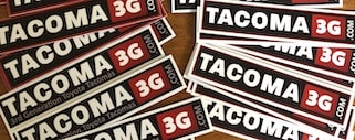 Tacoma3G.com Stickers
